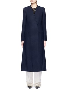 Lanvin Felt collar wool blend coat