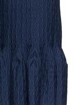'Segovie' peplum hem stripe jacquard knit dress