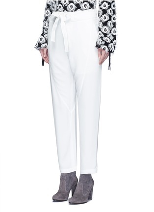 Front View - Click To Enlarge - Chloé - Drawstring waist dropped crotch pants