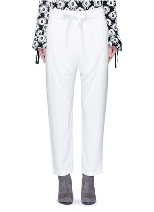 Main View - Click To Enlarge - Chloé - Drawstring waist dropped crotch pants