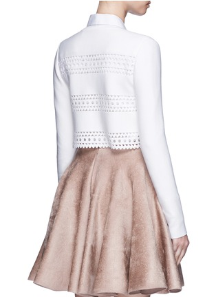 Back View - Click To Enlarge - Alaïa - 'Vienne d'hiver' geometric cutout cropped cardigan