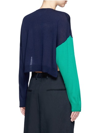 Back View - Click To Enlarge - Ports 1961 - Colourblock pocket wool sweater