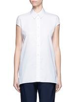 Pinstripe poplin sleeveless shirt