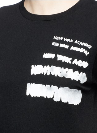 Detail View - Click To Enlarge - SAINT LAURENT - 'New York Academy' print jersey T-shirt