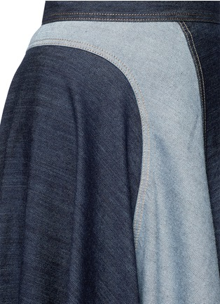 Detail View - Click To Enlarge - Lanvin - Wavy fade panel denim skirt