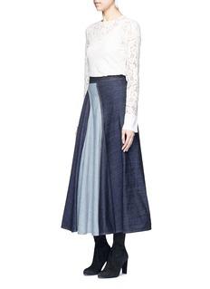 LANVINWavy fade panel denim skirt