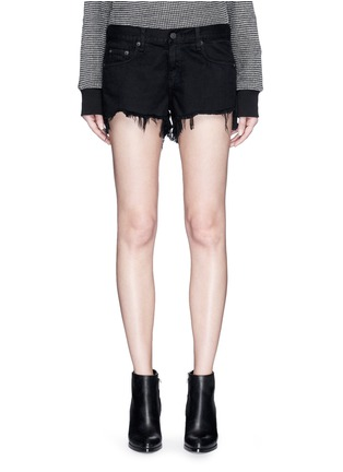 Detail View - Click To Enlarge - rag & bone/JEAN - 'Cut Off' frayed denim shorts
