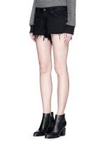 'Cut Off' frayed denim shorts