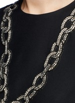 Embellished heart and chain dress