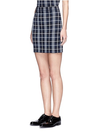 Front View - Click To Enlarge - Theory - 'Teslianna B' plaid knit skirt