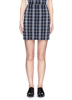 'Teslianna B' plaid knit skirt