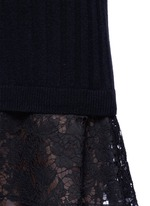 Lace hem virgin wool-cashmere sweater dress