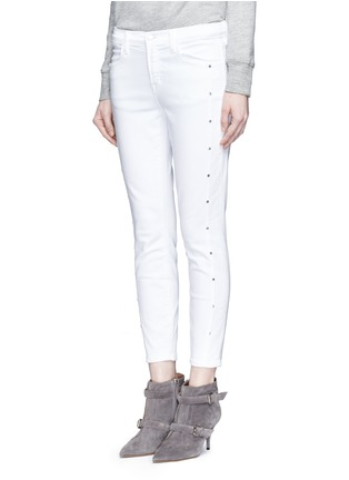Front View - Click To Enlarge - J Brand - 'Alba' stud skinny jeans