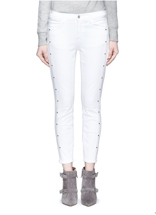Main View - Click To Enlarge - J Brand - 'Alba' stud skinny jeans