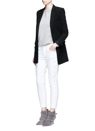 Figure View - Click To Enlarge - J Brand - 'Alba' stud skinny jeans