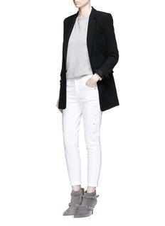 J BRAND'Alba' stud skinny jeans