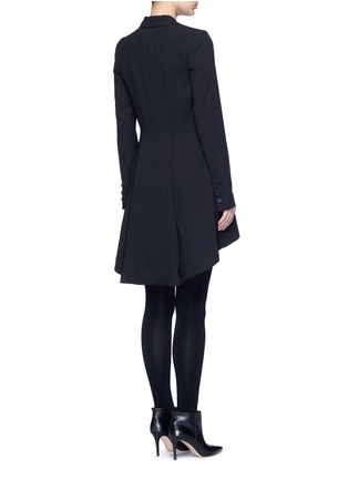 Back View - Click To Enlarge - alice + olivia - 'Jordyn' drape back crepe blazer