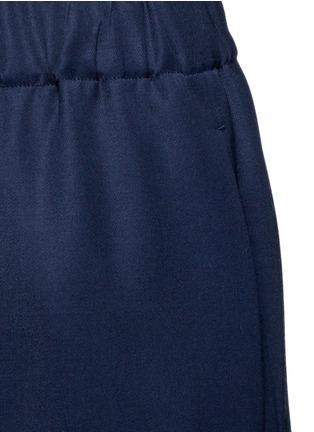 Detail View - Click To Enlarge - The Row - 'Arez' zip elastic waist virgin wool pants