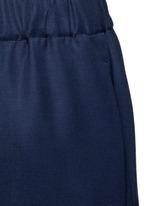 'Arez' zip elastic waist virgin wool pants