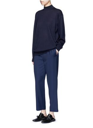 Figure View - Click To Enlarge - The Row - 'Arez' zip elastic waist virgin wool pants