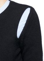 Geometric cutout cashmere sweater