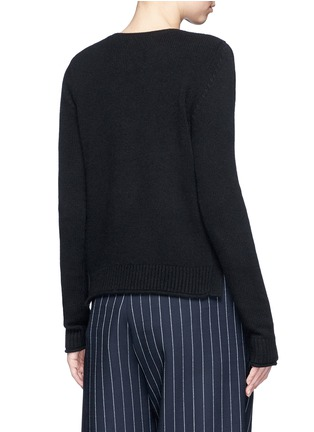 Back View - Click To Enlarge - Ports 1961 - Geometric cutout cashmere sweater