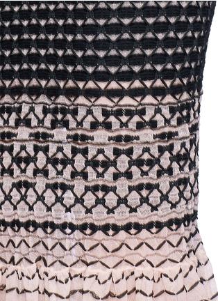 Detail View - Click To Enlarge - Alexander McQueen - Macramé stitch peplum skirt