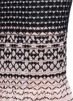Macramé stitch peplum skirt