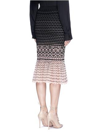 Back View - Click To Enlarge - Alexander McQueen - Macramé stitch peplum skirt