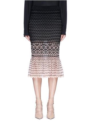 Main View - Click To Enlarge - Alexander McQueen - Macramé stitch peplum skirt