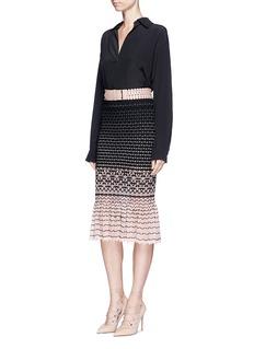 Alexander McQueenMacramé stitch peplum skirt
