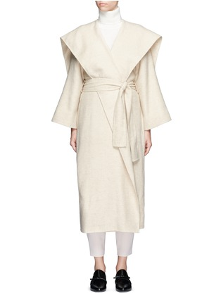 Main View - Click To Enlarge - The Row - 'Lanja' oversize shawl lapel belted coat