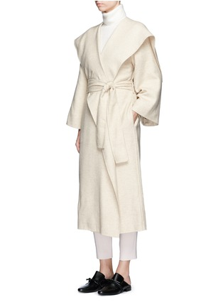 Figure View - Click To Enlarge - The Row - 'Lanja' oversize shawl lapel belted coat