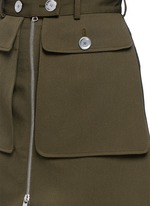Cavalry twill zip front military skirt