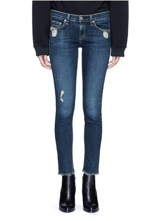 Detail View - Click To Enlarge - rag & bone/JEAN - 'Skinny' distressed jeans