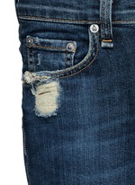 'Skinny' distressed jeans