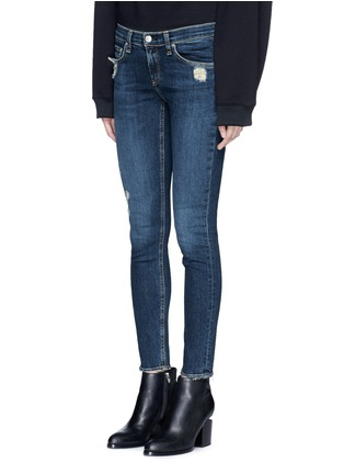 Front View - Click To Enlarge - rag & bone/JEAN - 'Skinny' distressed jeans