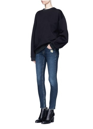 Figure View - Click To Enlarge - rag & bone/JEAN - 'Skinny' distressed jeans