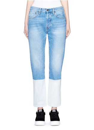 Detail View - Click To Enlarge - Ports 1961 - Dipped hem whiskered jeans