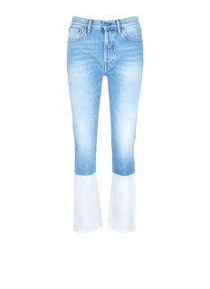 Ports 1961Dipped hem whiskered jeans