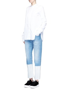 Ports 1961 Dipped hem whiskered jeans