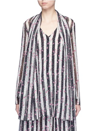 Main View - Click To Enlarge - Lanvin - Stripe floral print silk blouse