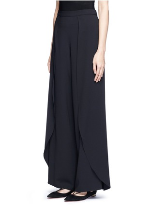 Front View - Click To Enlarge - alice + olivia - 'Larissa' wrap wide leg pants