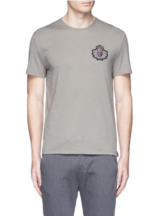 Main View - Click To Enlarge - Alexander McQueen - Military skull patch embroidery T-shirt