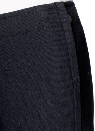 Detail View - Click To Enlarge - Helmut Lang - Ramie crepe wide flare pants