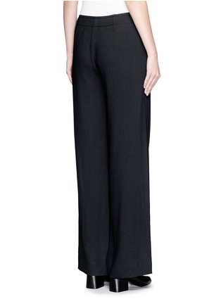 Back View - Click To Enlarge - Helmut Lang - Ramie crepe wide flare pants