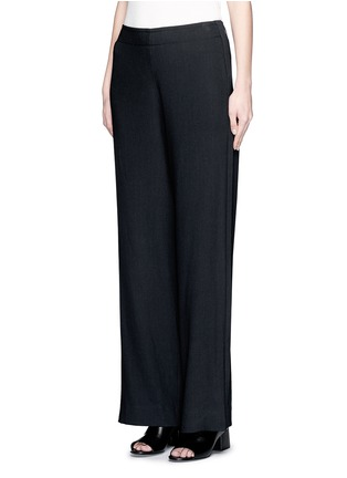 Front View - Click To Enlarge - Helmut Lang - Ramie crepe wide flare pants