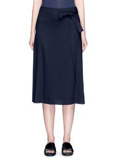 HELMUT LANGWrap back overlay crepe skirt