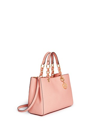 Front View - Click To Enlarge - Michael Kors - 'Cynthia' medium saffiano leather satchel