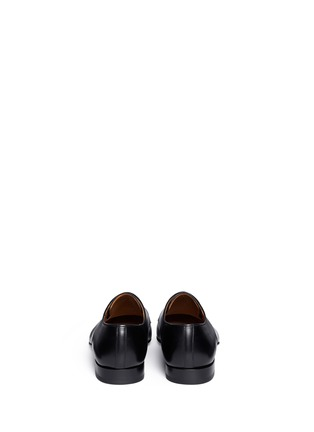 Magnanni-Squared almond toe leather Derbies